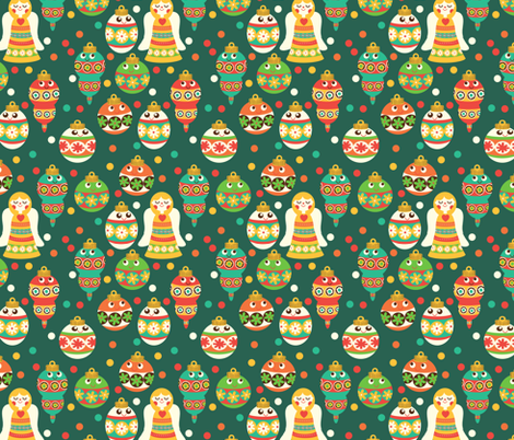 Trim The Tree fabric by heidikenney on Spoonflower - custom fabric