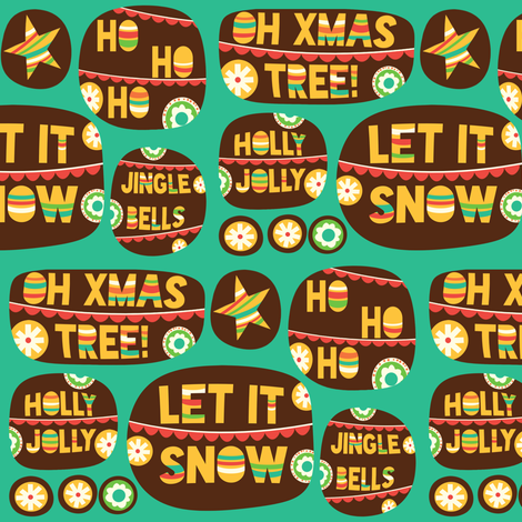 Christmas Cheer fabric by heidikenney on Spoonflower - custom fabric