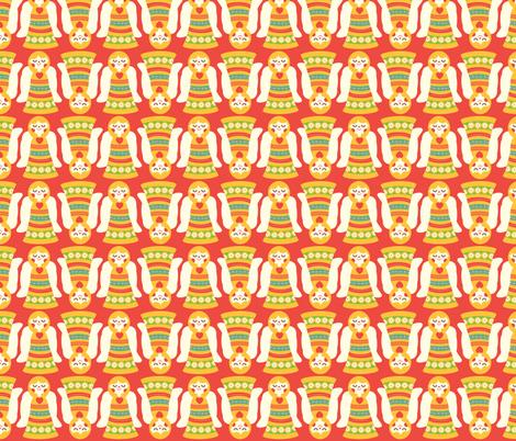 Christmas Angel fabric by heidikenney on Spoonflower - custom fabric