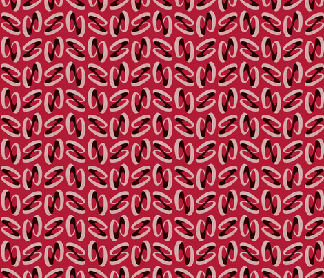 dancing rings red fabric by glimmericks on Spoonflower - custom fabric