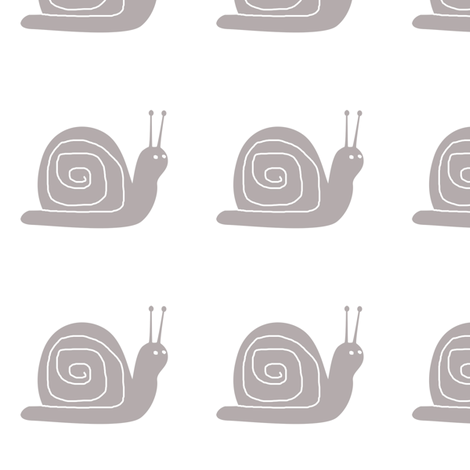 Large Grey Snails fabric by janinez on Spoonflower - custom fabric