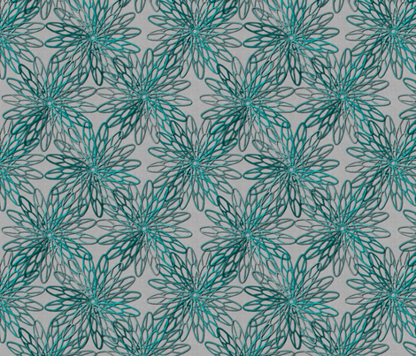 mum trims teal fabric by glimmericks on Spoonflower - custom fabric