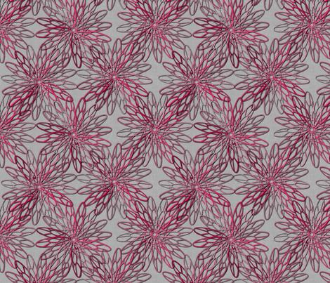 mum trims red fabric by glimmericks on Spoonflower - custom fabric