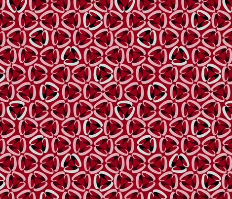 three rings red fabric by glimmericks on Spoonflower - custom fabric
