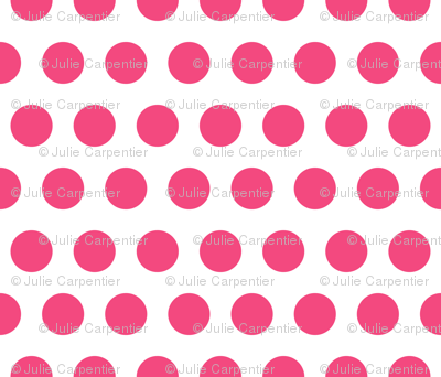 Polka Dot - Pink on White XL