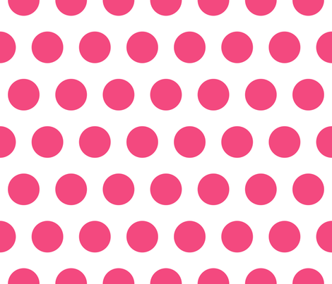Polka Dot - Pink on White XL fabric by juliesfabrics on Spoonflower - custom fabric