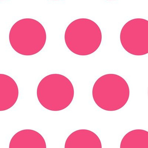 Polka Dot - Pink on White XL