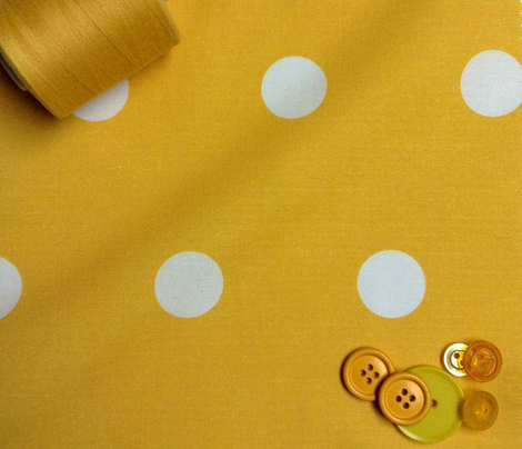 Polka Dot - White on Yellow