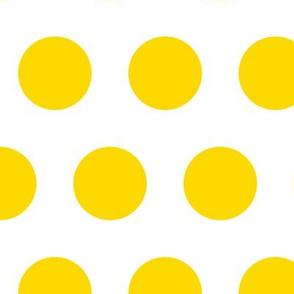 Polka Dot - Yellow on White XL