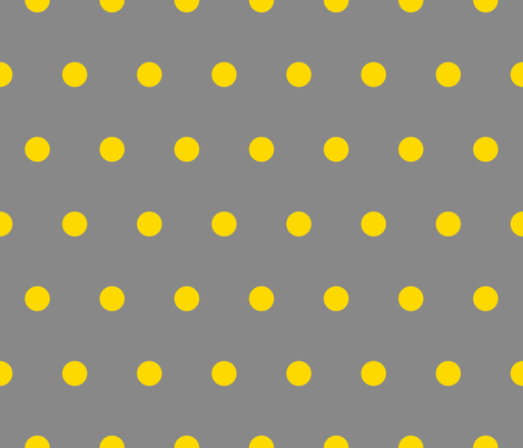 Polka Dot - Yellow on Gray fabric - juliesfabrics ...