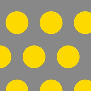 Polka Dot - Yellow on Gray XL