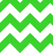 Chevrons Green and White