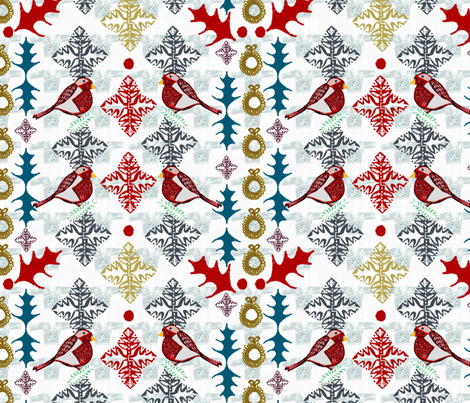 Ugly Sweater Re-imagined fabric by slumbermonkey on Spoonflower - custom fabric