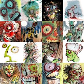 16 zombies