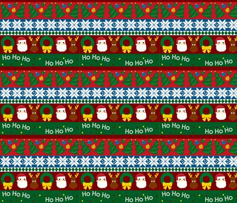 christmas_stripes fabric by ellen_williams on Spoonflower - custom fabric