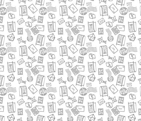 Postal fabric by lunasol on Spoonflower - custom fabric