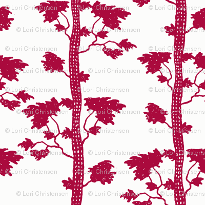 tree stripe red