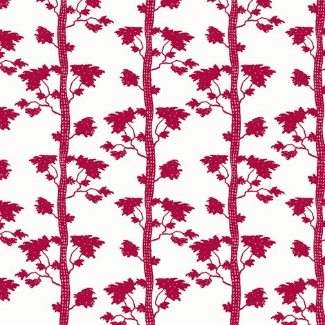 tree stripe red fabric by keweenawchris on Spoonflower - custom fabric
