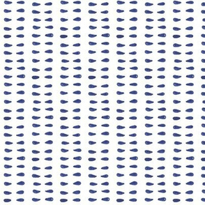 Blue and White Teardrop Stripe