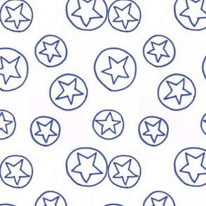 Blue Stars and Circles