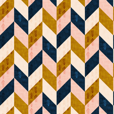 Desert Chevron (SMALL)  fabric by nouveau_bohemian on Spoonflower - custom fabric