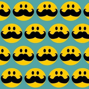 Smiley with mustaches