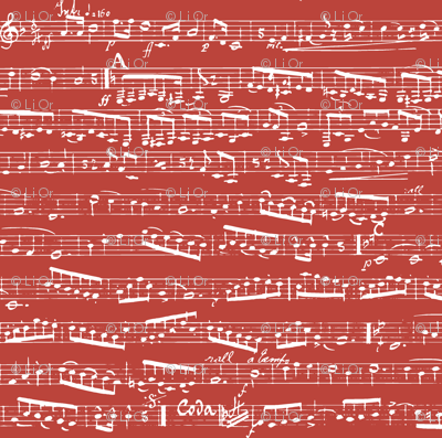 Red Music Notes Fabric Inspirationz Spoonflower