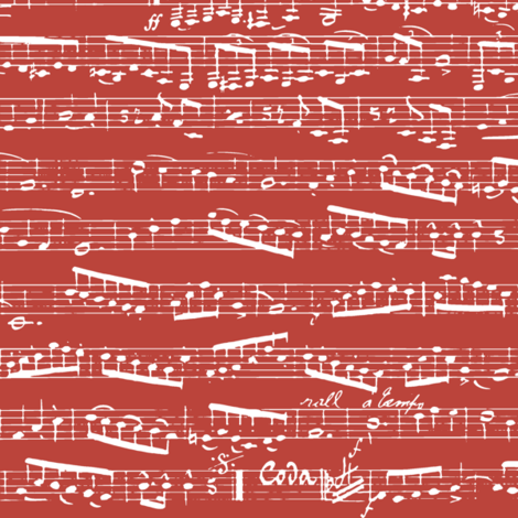 Red Music notes fabric by inspirationz on Spoonflower - custom fabric