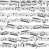 Black and white Music Notes