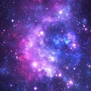 Purple Space Stars