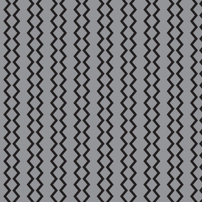 Small chevron_stripe black on grey