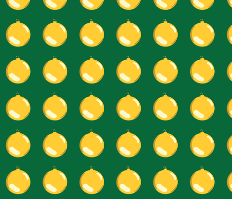 Christmas Ornaments on Green fabric by pange on Spoonflower - custom fabric