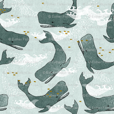 Whales (dark) SMALL