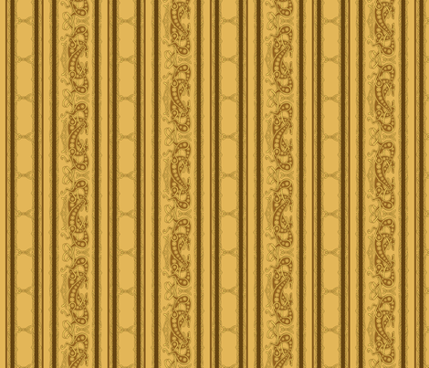 Celtic Knot Greyhounds, gold and brown stripes fabric by artbyjanewalker on Spoonflower - custom fabric