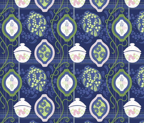 Pyrex and Berries fabric by dianne_annelli on Spoonflower - custom fabric