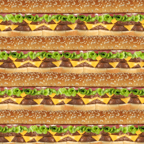 Cheeseburger Stripe fabric by sufficiency on Spoonflower - custom fabric