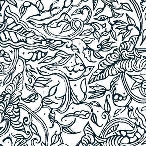 Black & White Inverse Batik