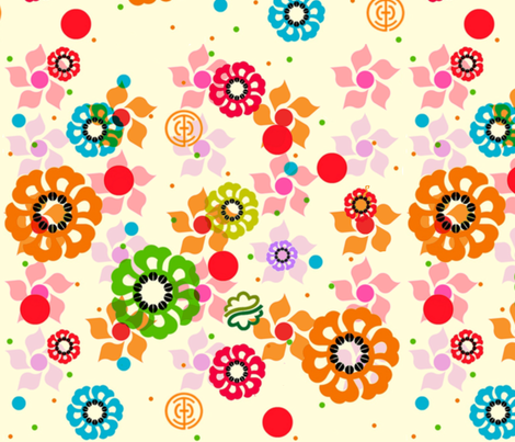 Furano Flower Fields fabric by boris_thumbkin on Spoonflower - custom fabric