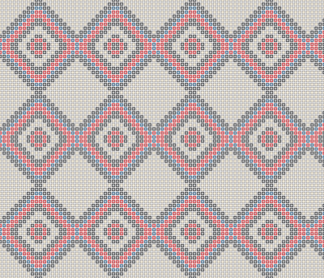 Tribal_Bead_Grey_Medium fabric by michelle_zollinger_tams on Spoonflower - custom fabric