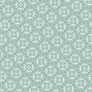 Snowflake Winter Green