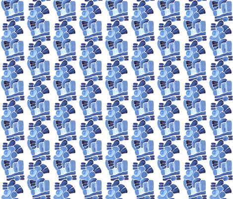 Blue Abstraction  fabric by katebutler on Spoonflower - custom fabric