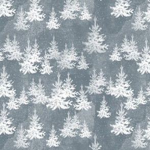 Christmas Pine forest (grey)