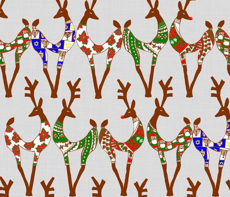 SweaterDeer fabric by kitkatdesigns on Spoonflower - custom fabric