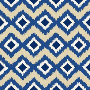 Ikat in Natural and Indigo