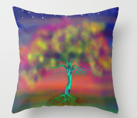 TREE LUMINESCENT COLOURS LARGE Pillow