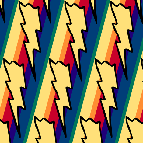 Rainbows and Lightning fabric by pond_ripple on Spoonflower - custom fabric