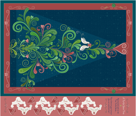 Turtle Dove Tree fabric by liluna on Spoonflower - custom fabric