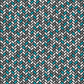Gray and Teal Weave
