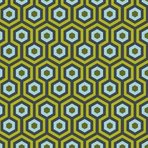 Hex - Chartreuse & Slate