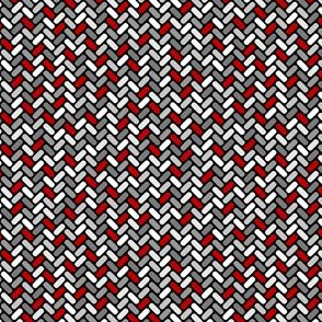 Gray and Red Weave